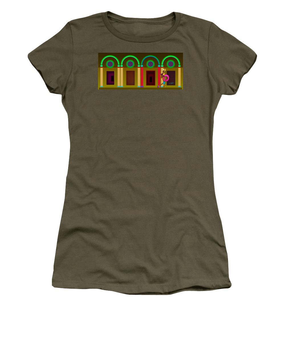 Classical Women's T-Shirt featuring the painting Autumn Colour Fall Color by Charles Stuart