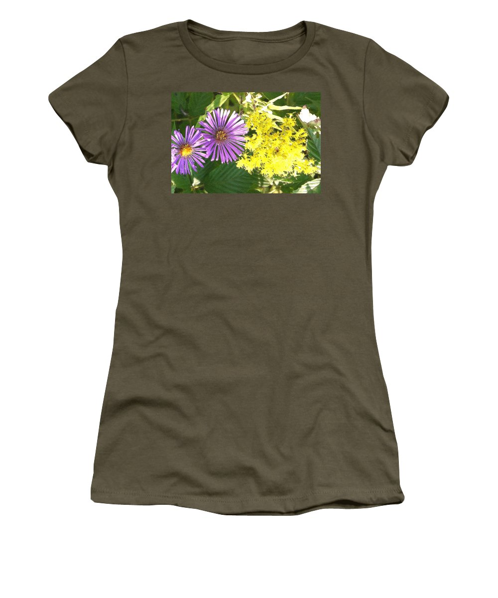 Aster Women's T-Shirt (Athletic Fit) featuring the photograph Autumn Duo by Nelson Strong