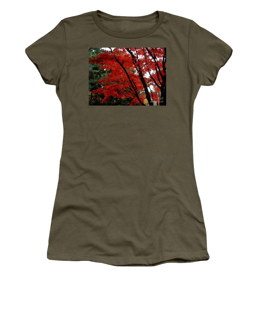 Autumn Women's T-Shirt featuring the photograph Autumn In New England by Melissa A Benson