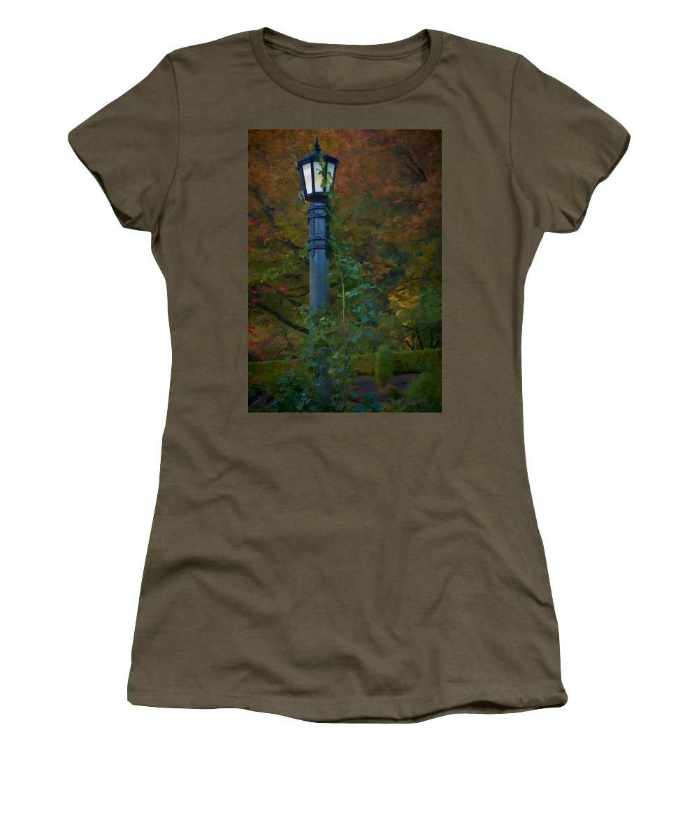 Autumn Women's T-Shirt featuring the photograph Autumn Lamp by Dennis Reagan