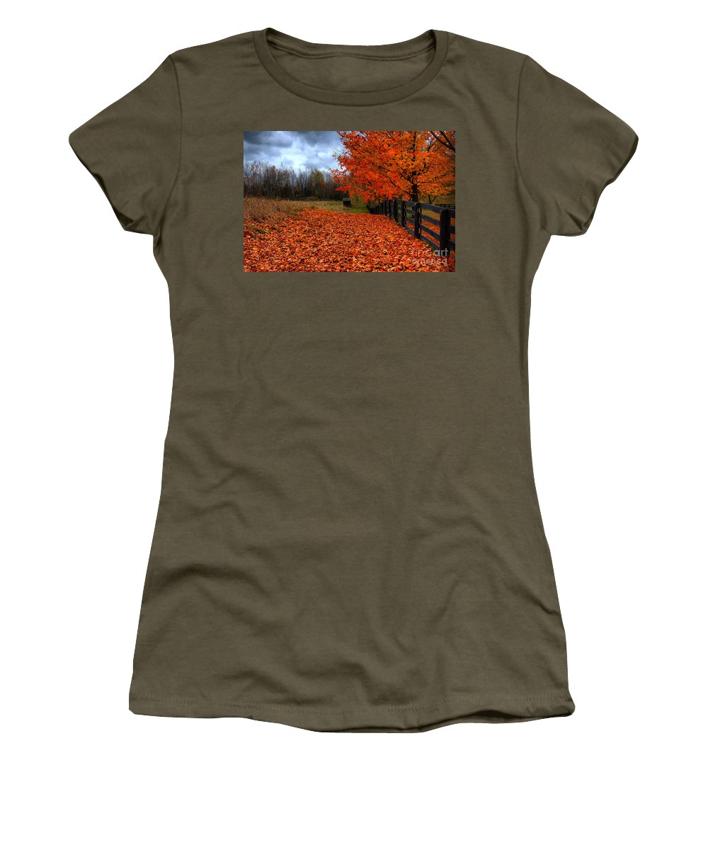 Autumn Women's T-Shirt featuring the photograph Autumn Leaves by Joe Ng