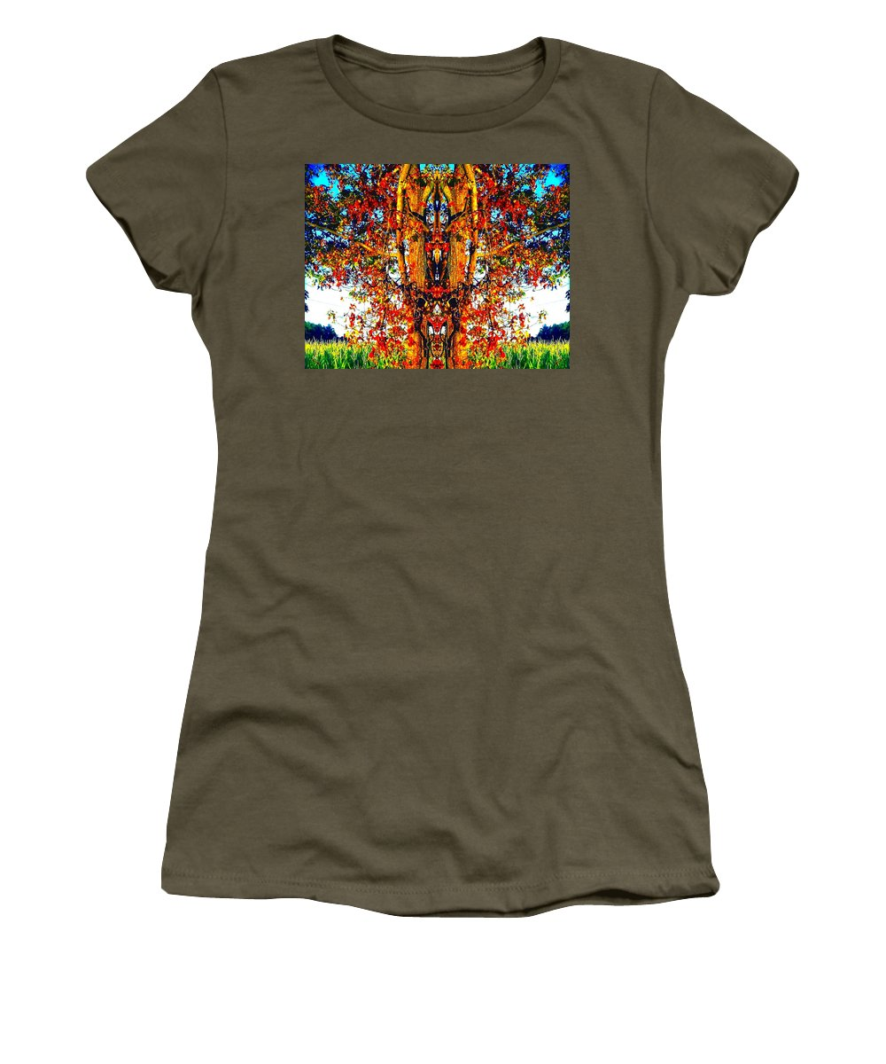 Tree Women's T-Shirt (Athletic Fit) featuring the photograph Autumn Magic by Marianne Dow