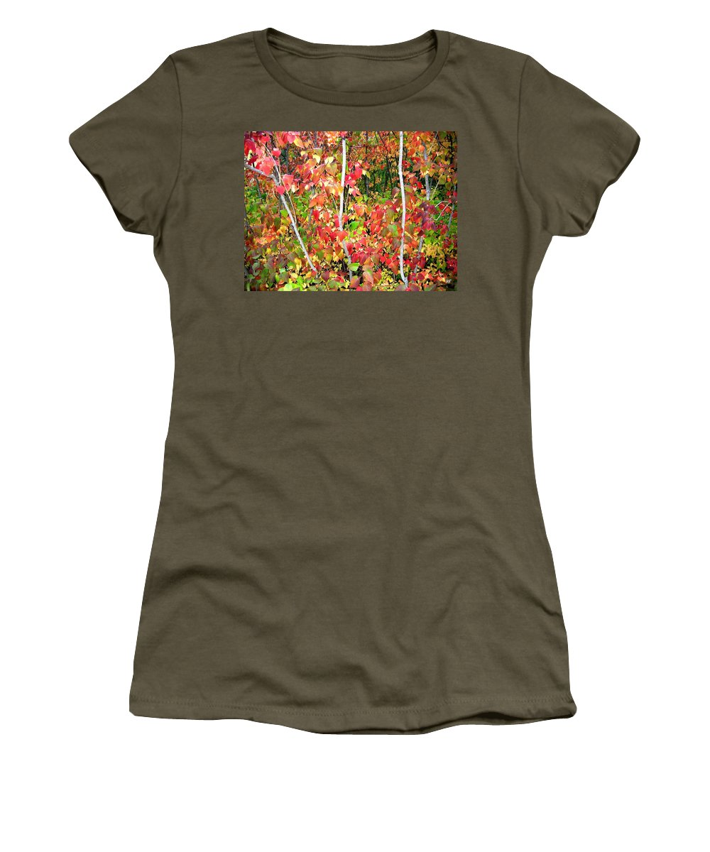 Autumn Women's T-Shirt (Athletic Fit) featuring the photograph Autumn Sanctuary by Will Borden