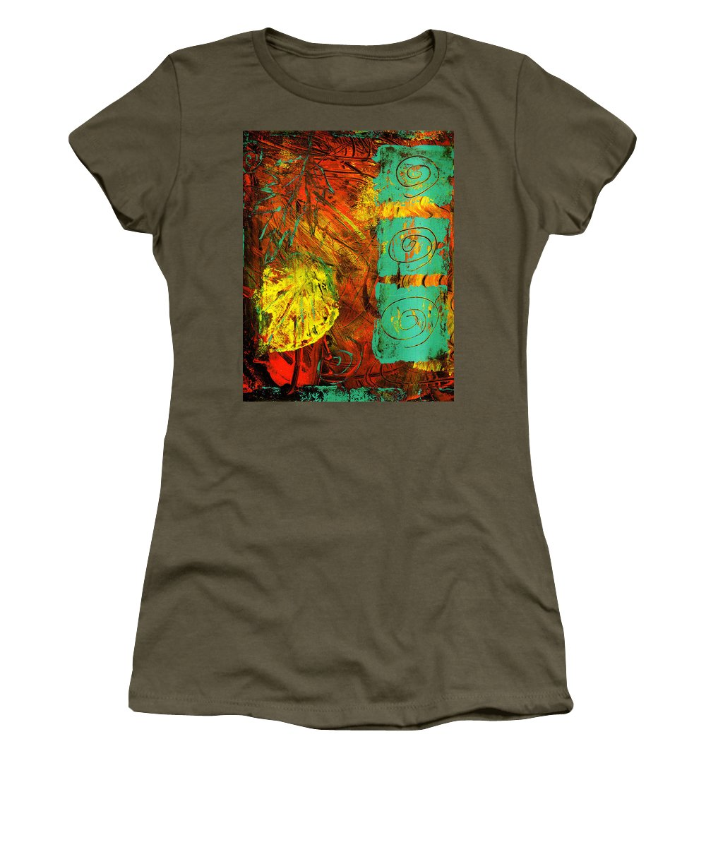 Autumn Women's T-Shirt (Athletic Fit) featuring the painting Autumn by Wayne Potrafka