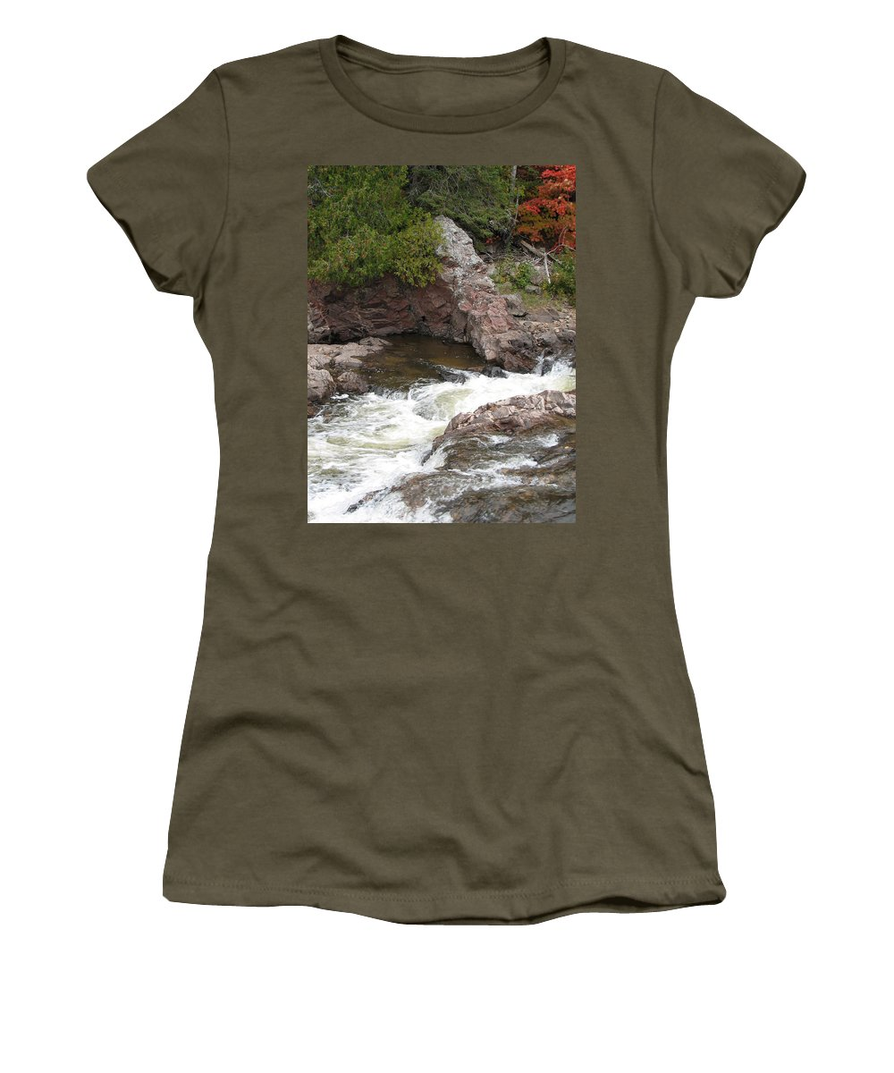 River Women's T-Shirt (Athletic Fit) featuring the photograph Babbling by Kelly Mezzapelle