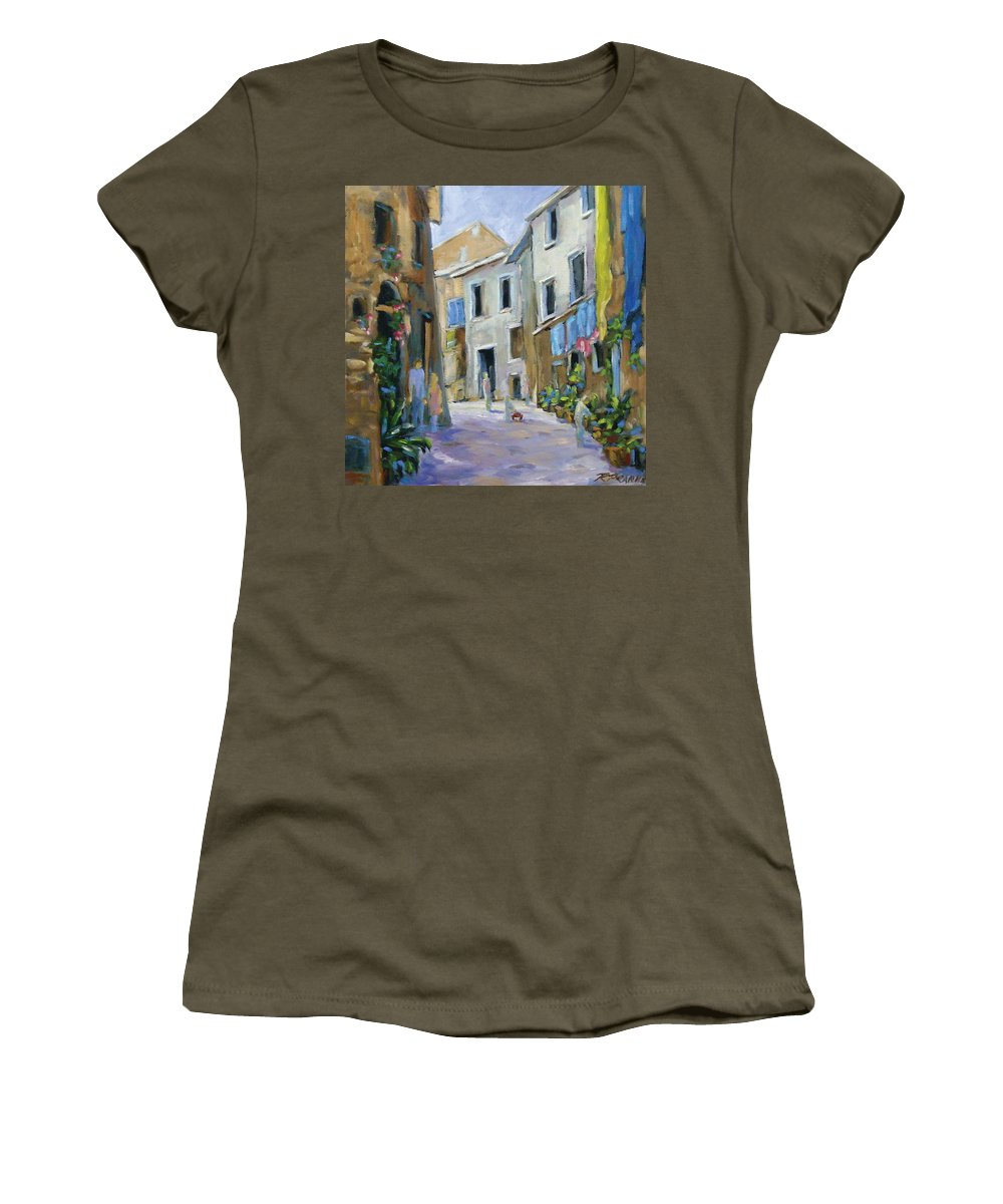 Urban Women's T-Shirt (Athletic Fit) featuring the painting Back Street by Richard T Pranke