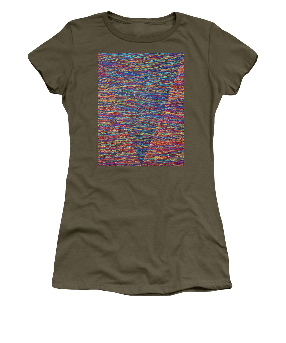 Spiritual Women's T-Shirt featuring the painting Back To Heaven 1 by Kyung Hee Hogg