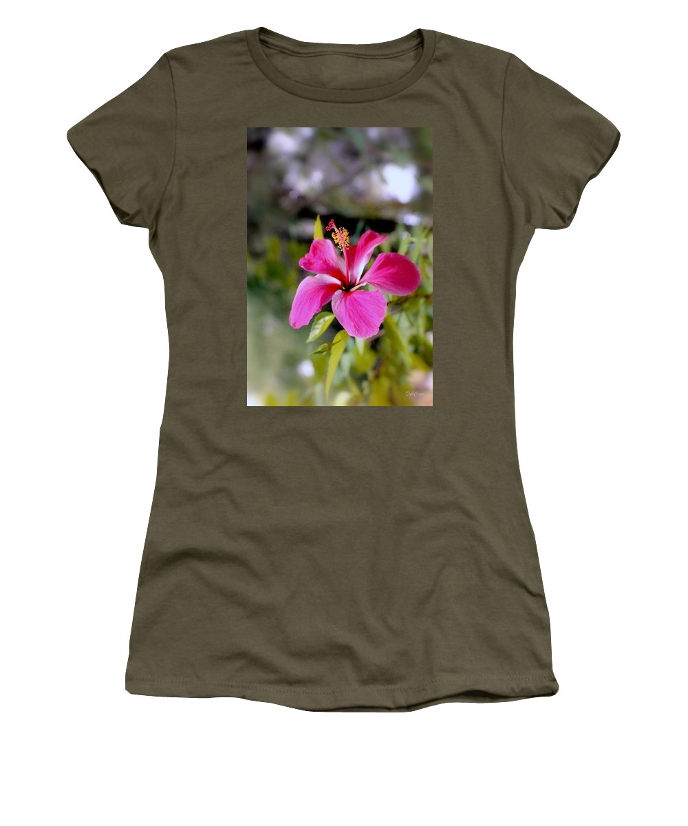 Flowers Women's T-Shirt featuring the photograph Bahamian Flower by Deborah Crew-Johnson