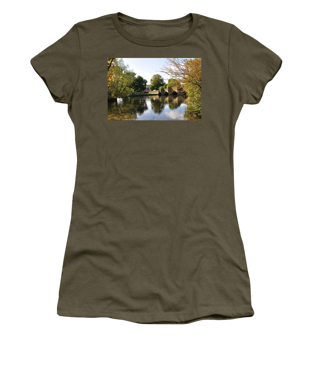 Europe Women's T-Shirt featuring the photograph Bakewell Bridge And The River Wye by Rod Johnson