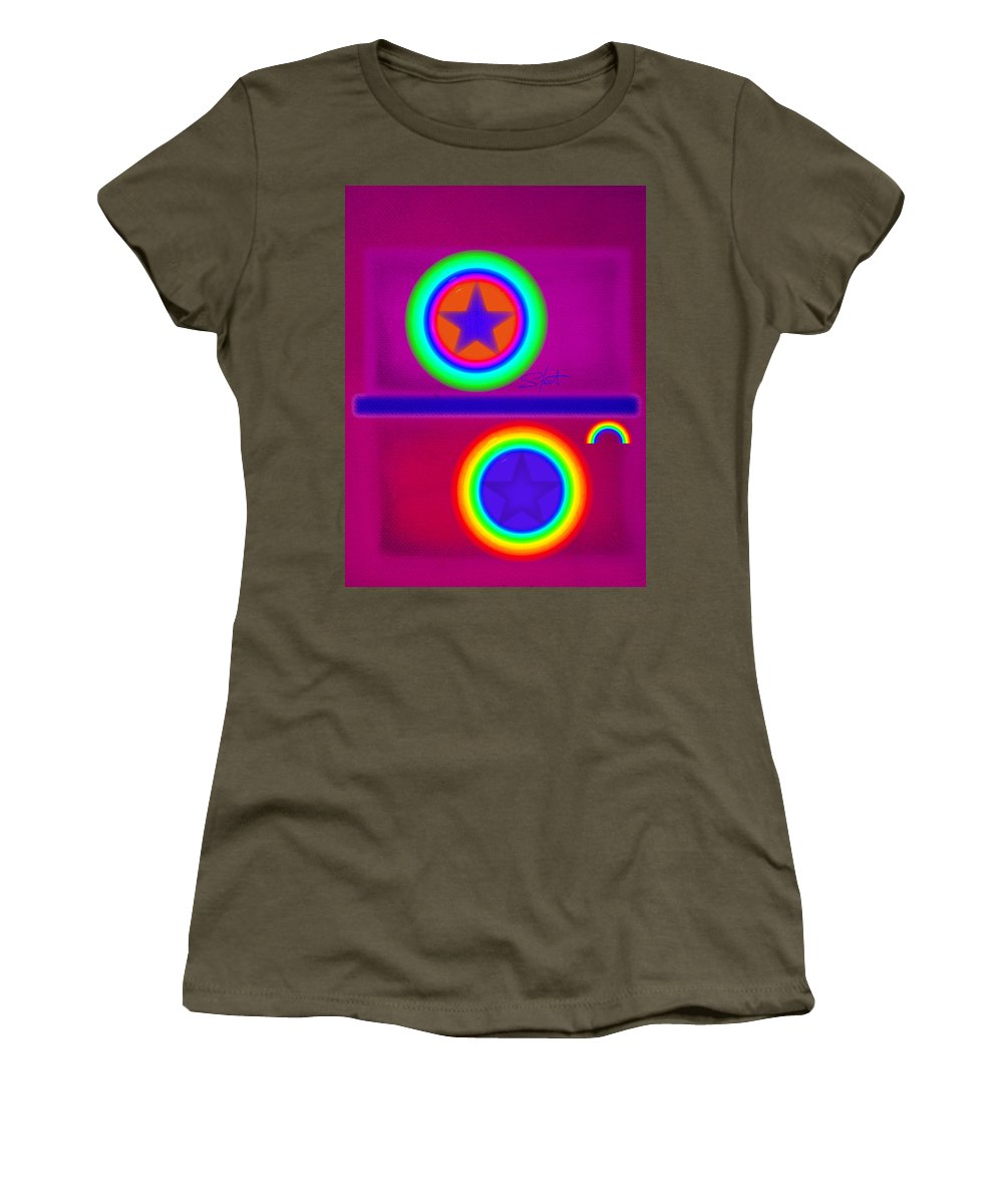 Balance Women's T-Shirt featuring the painting Balance Of Power by Charles Stuart