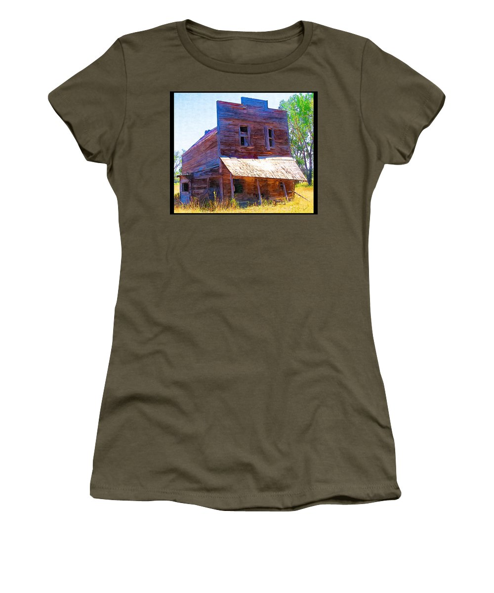 Barber Montana Women's T-Shirt featuring the photograph Barber Store by Susan Kinney
