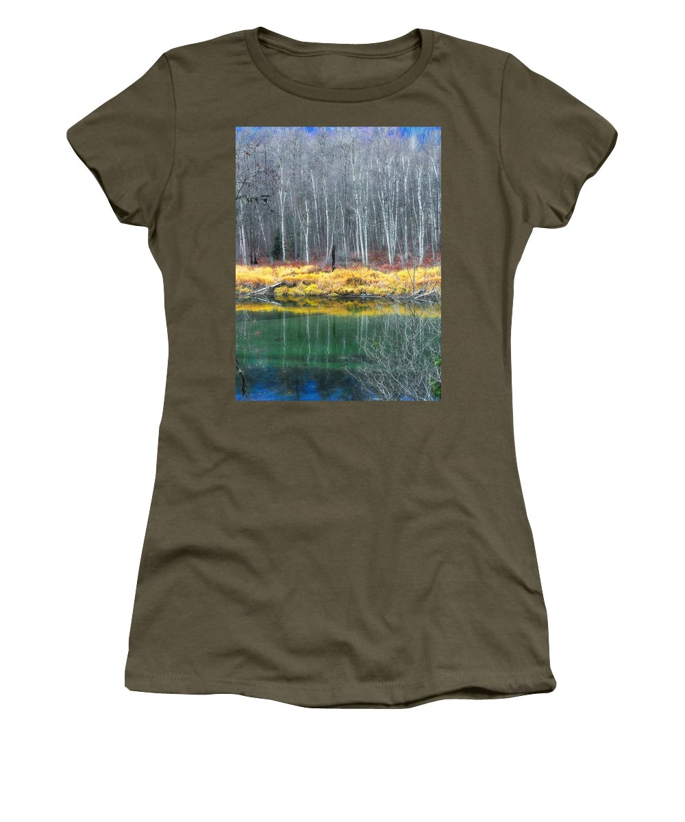Trees Women's T-Shirt featuring the photograph Baring Their Souls by Tara Turner