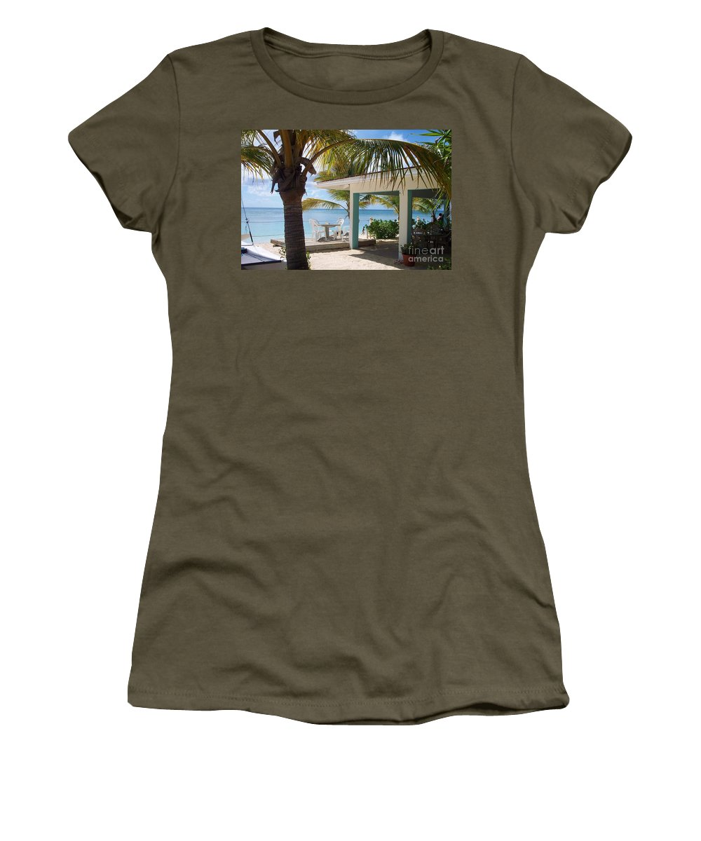 Beach Women's T-Shirt (Athletic Fit) featuring the photograph Beach In Grand Turk by Debbi Granruth