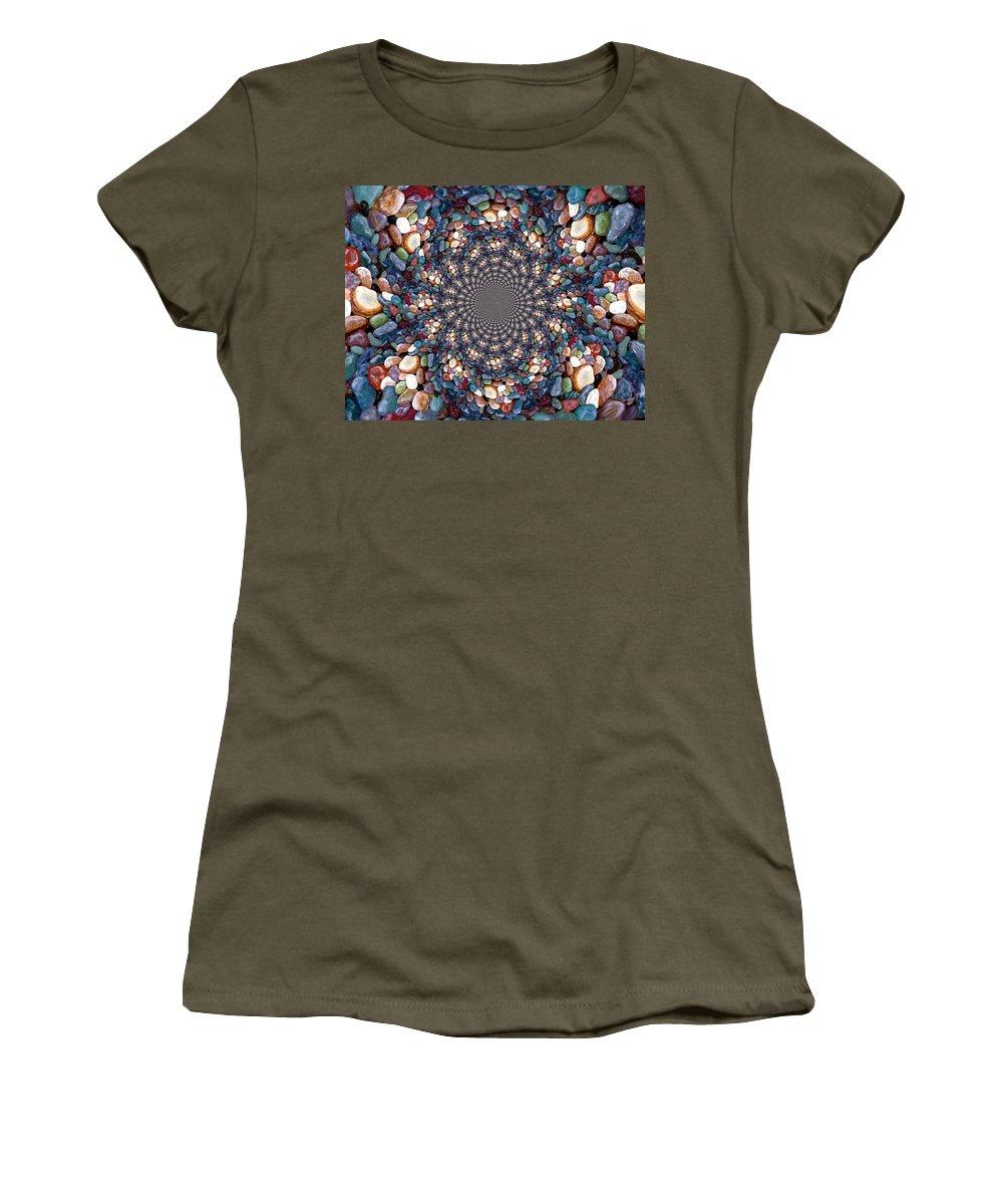 Beach Women's T-Shirt featuring the digital art Beach Kaleidoscope by Barbara Griffin