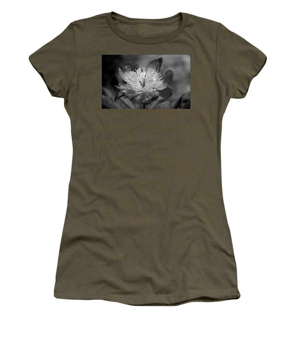 Peony Women's T-Shirt featuring the photograph Beautiful Anyway by Lori Tambakis