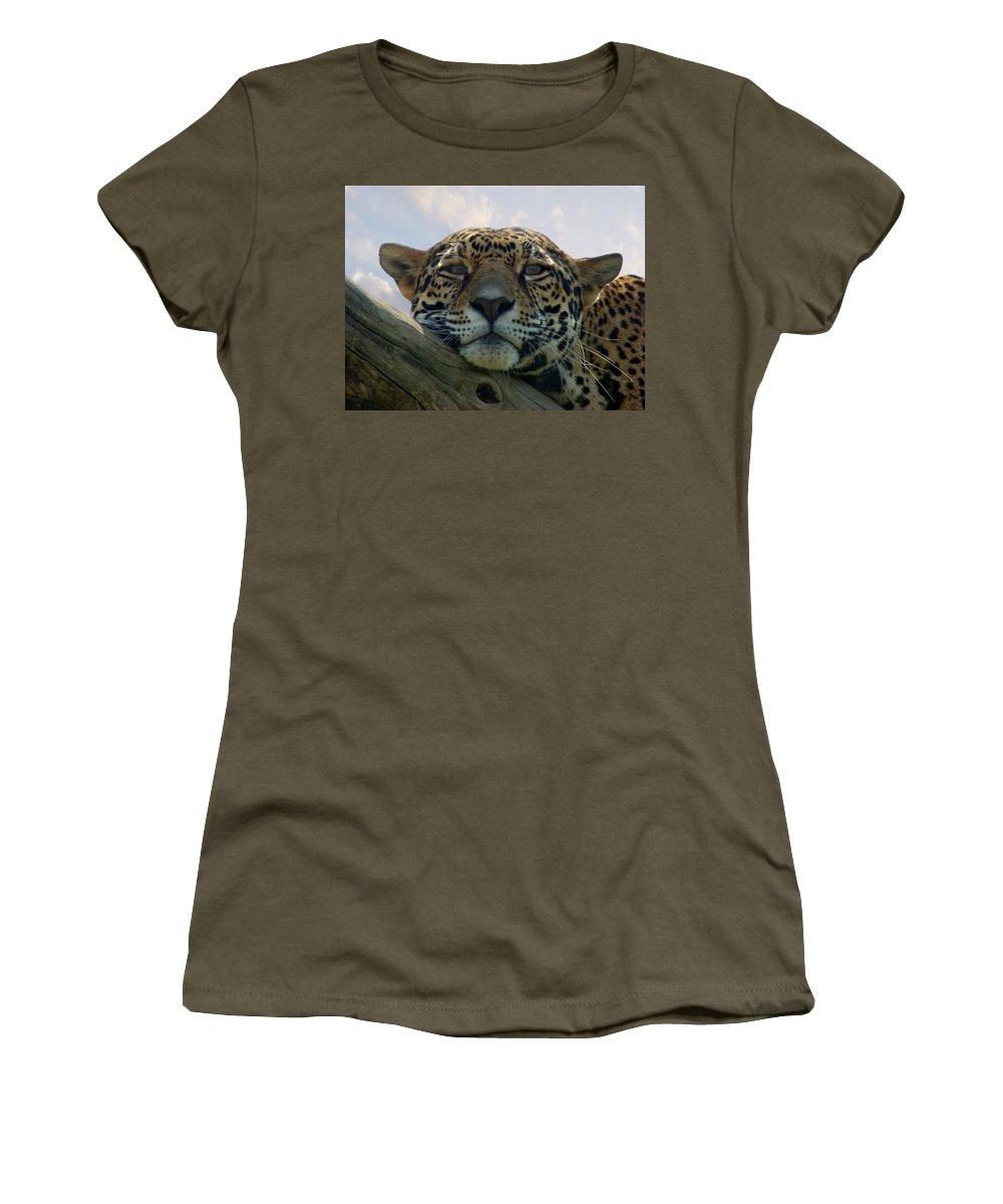 Jaguar Women's T-Shirt (Athletic Fit) featuring the photograph Beautiful Jaguar by Sandy Keeton