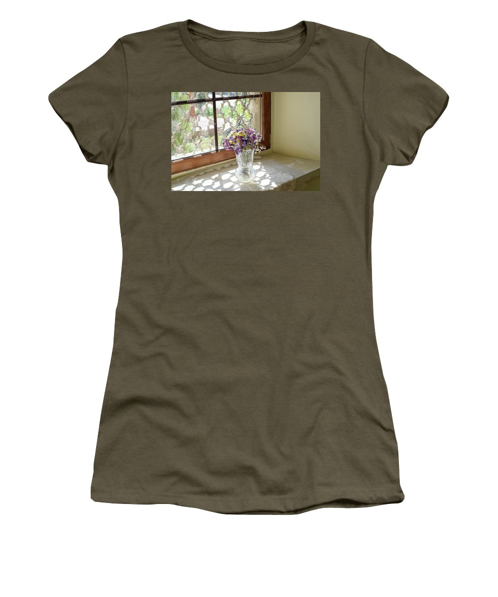 Still Life Women's T-Shirt featuring the photograph Beauty In Simplicity by Larisa Grib