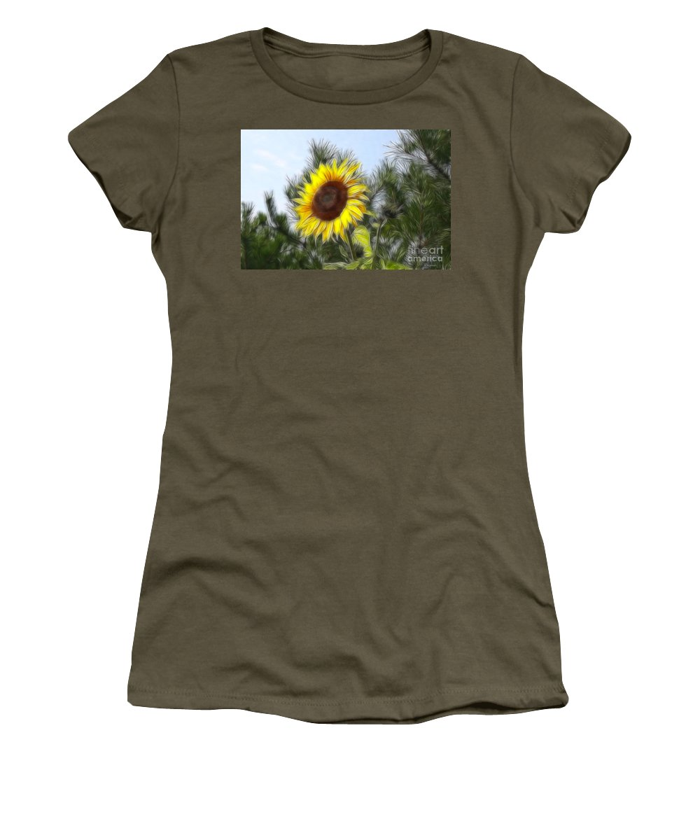 Fratalius Women's T-Shirt featuring the photograph Beauty In The Pines by Deborah Benoit