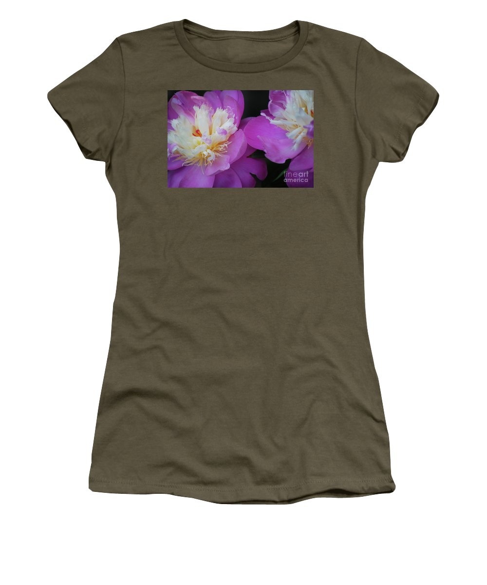 Peony Women's T-Shirt featuring the photograph Beauty Is What We Do by Lori Tambakis