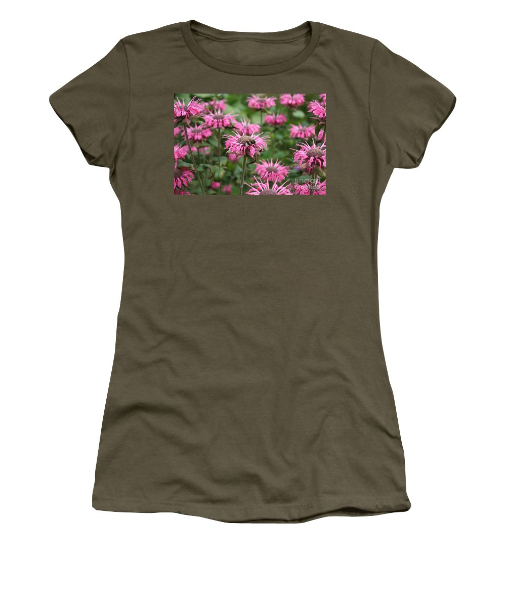 Bee Balm Women's T-Shirt featuring the photograph Bee Balm by Carol Groenen