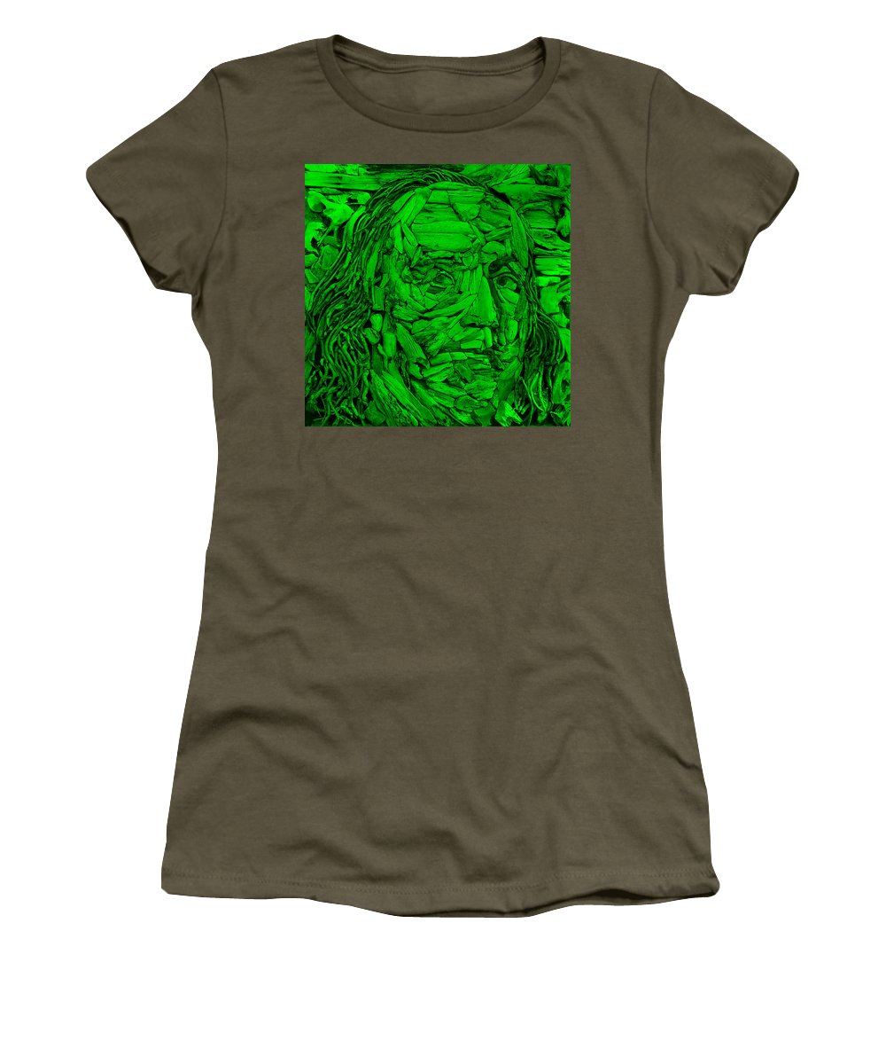 Ben Franklin Women's T-Shirt featuring the photograph Ben In Wood Green by Rob Hans