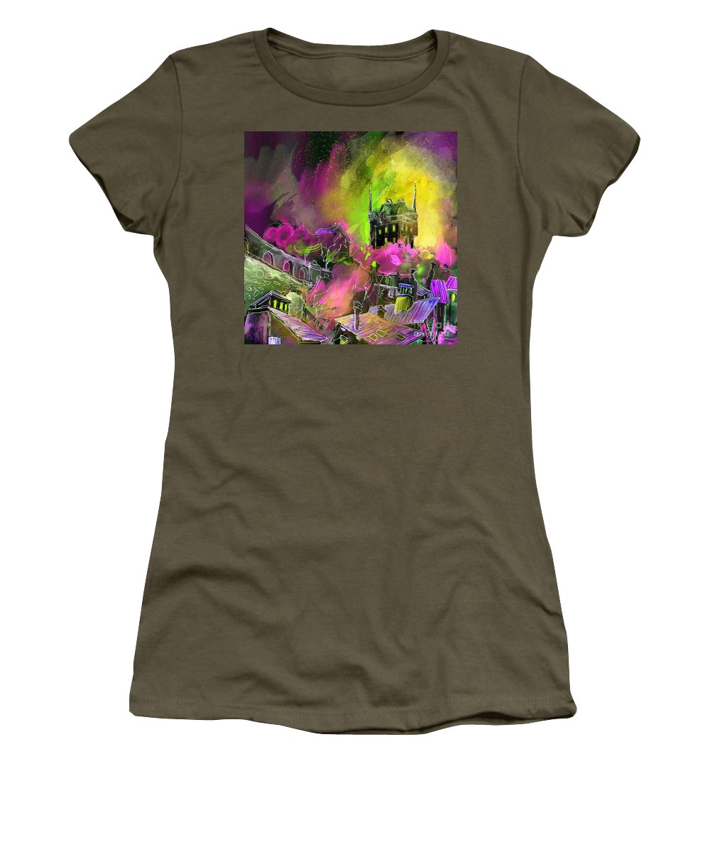Biarritz Women's T-Shirt (Athletic Fit) featuring the painting Biarritz 14 Bis by Miki De Goodaboom