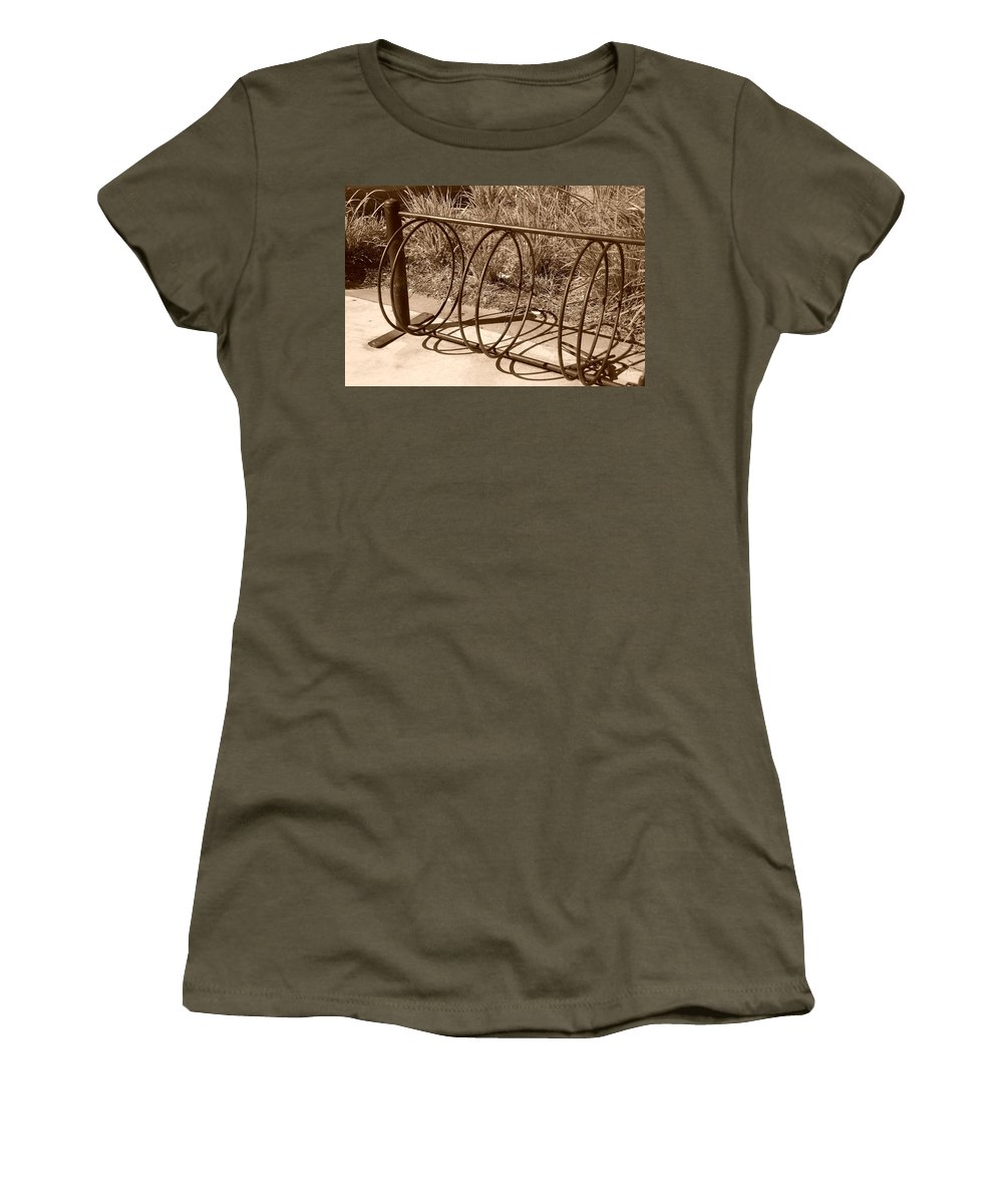 Bicycle Women's T-Shirt featuring the photograph Bike Rack by Rob Hans