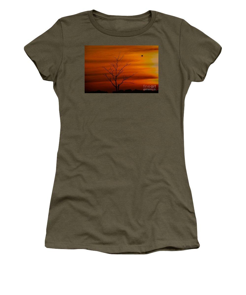 Pantanal Women's T-Shirt featuring the photograph Bird At Play by James Hennis
