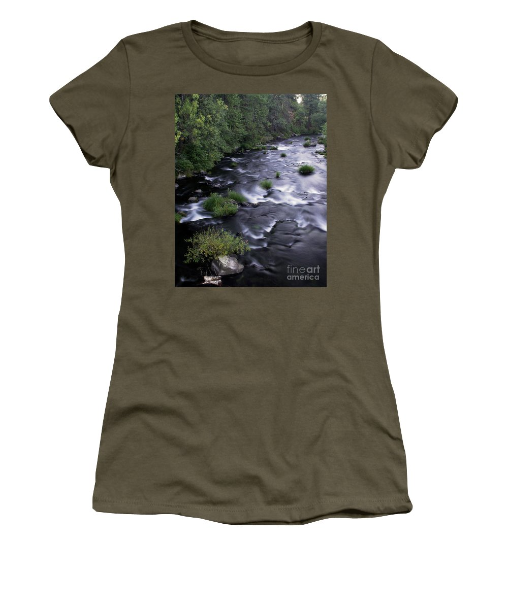 River Women's T-Shirt featuring the photograph Black Waters by Peter Piatt