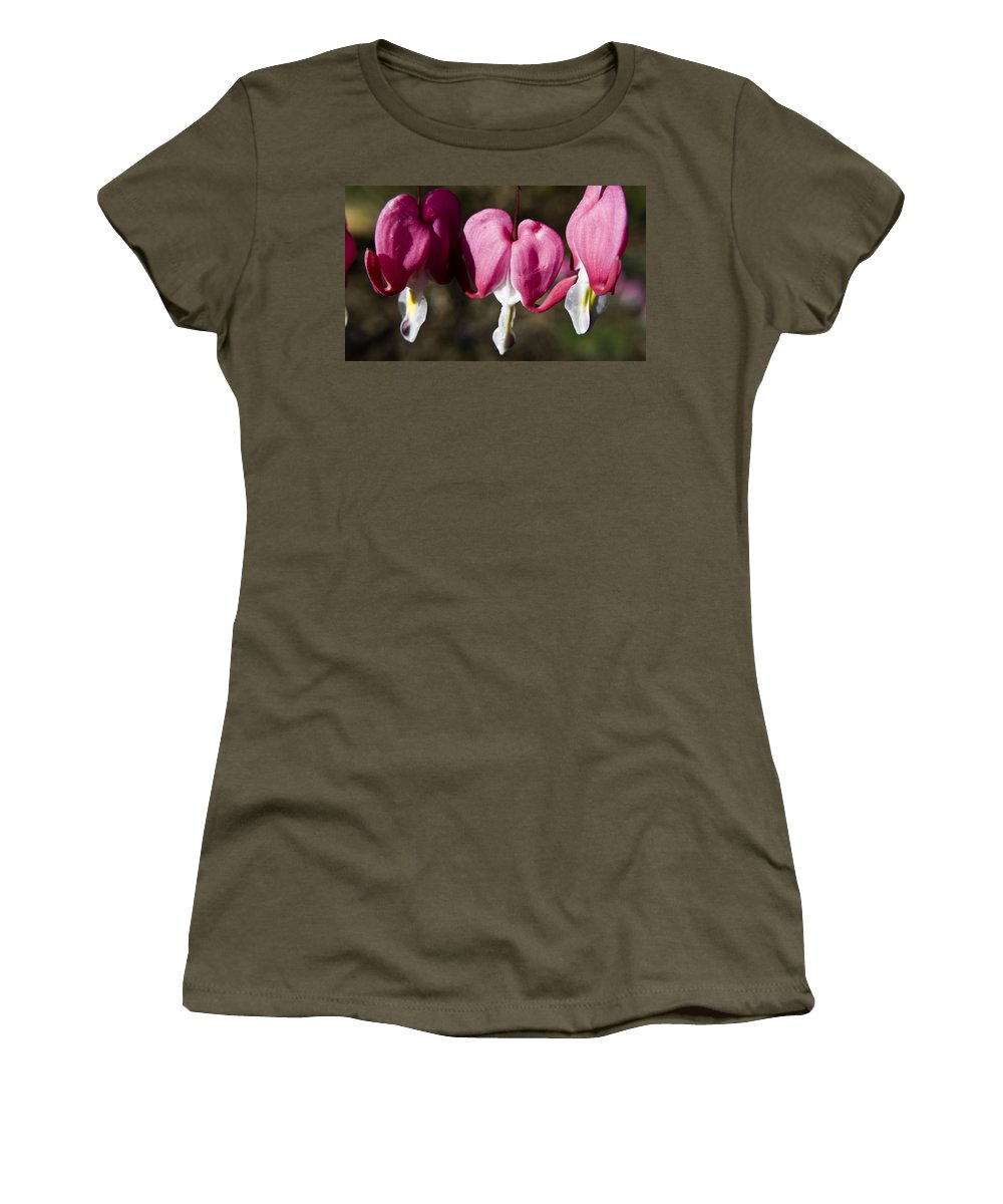 Bleeding Women's T-Shirt (Athletic Fit) featuring the photograph Bleeding Heart by Teresa Mucha