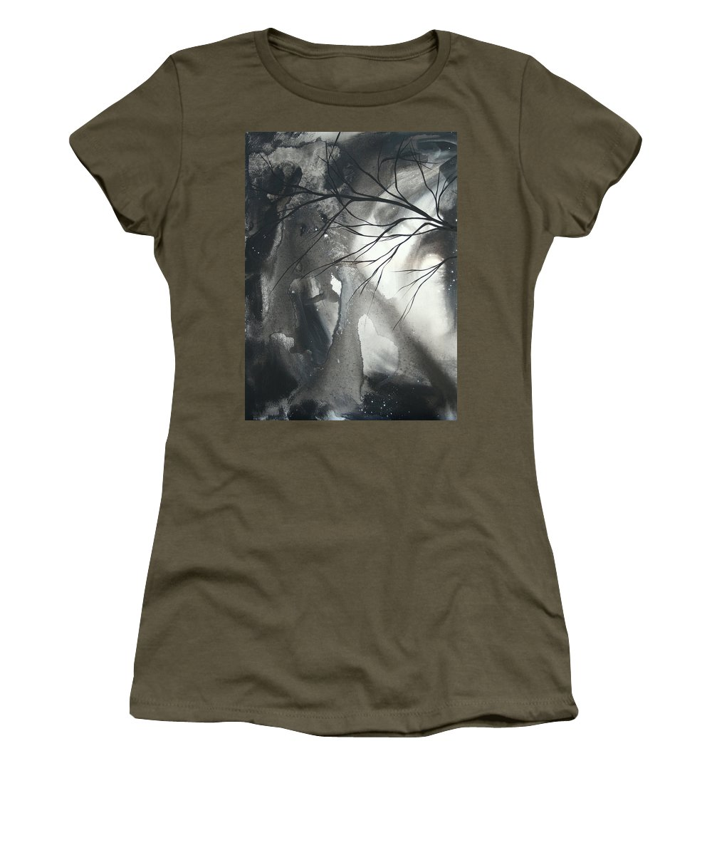 Huge Women's T-Shirt featuring the painting Blood Of The Moon 1 By Madart by Megan Duncanson