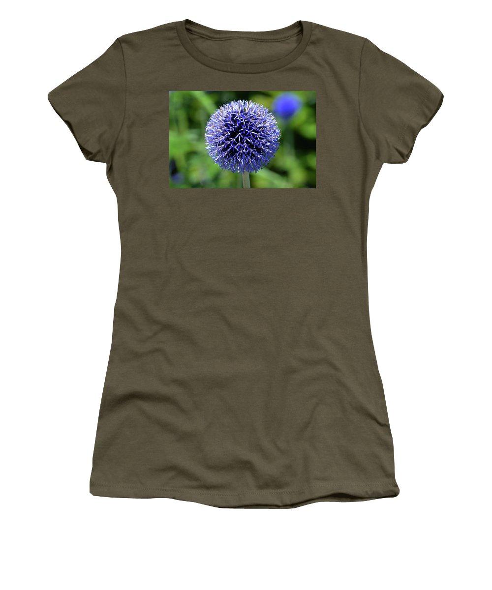Allium Women's T-Shirt (Athletic Fit) featuring the photograph Blue Allium by Terence Davis