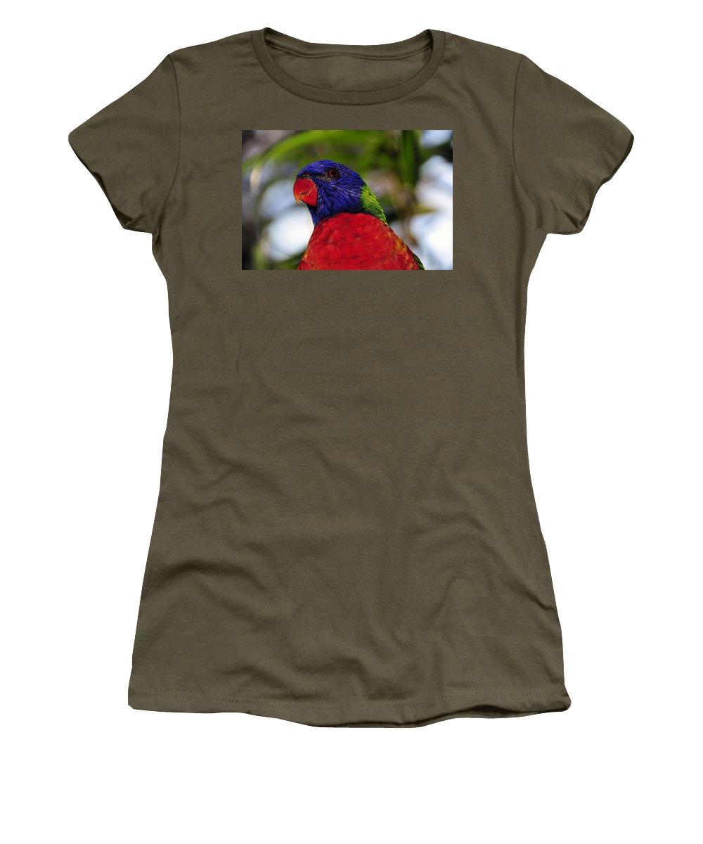 Tropical Women's T-Shirt featuring the photograph Blue Head Bird by David Lee Thompson
