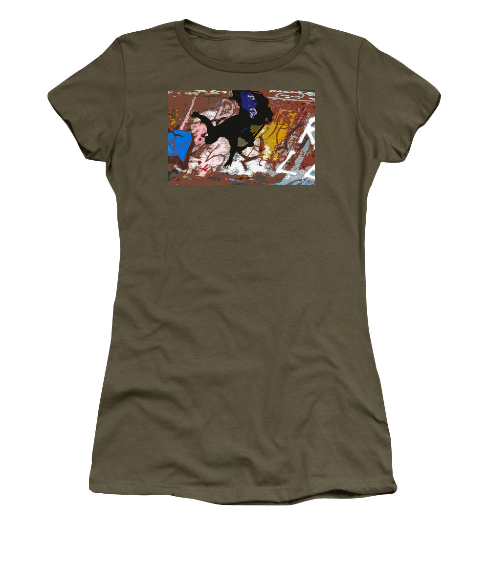 Skate Board Women's T-Shirt (Athletic Fit) featuring the photograph Boarding High by David Lee Thompson