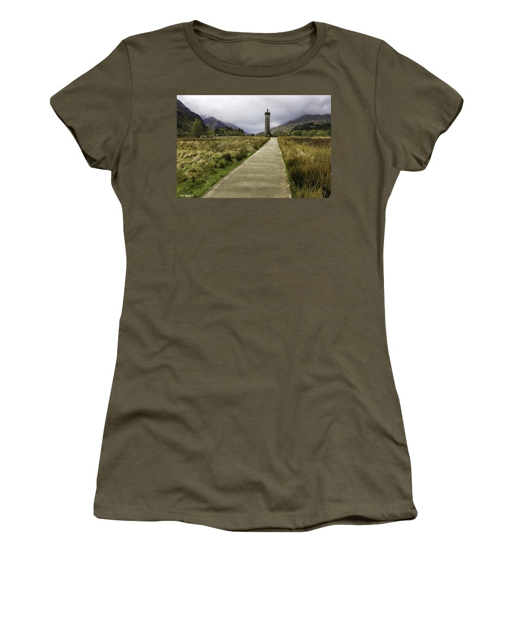 Bonnie Prince Charlie Women's T-Shirt featuring the photograph Bonnie Prince Charlie Monument by Fran Gallogly
