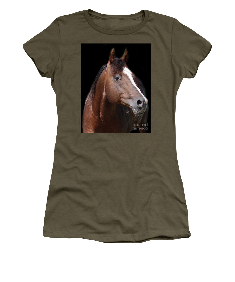 Horse Women's T-Shirt featuring the photograph Boomer by Valentina Miletic