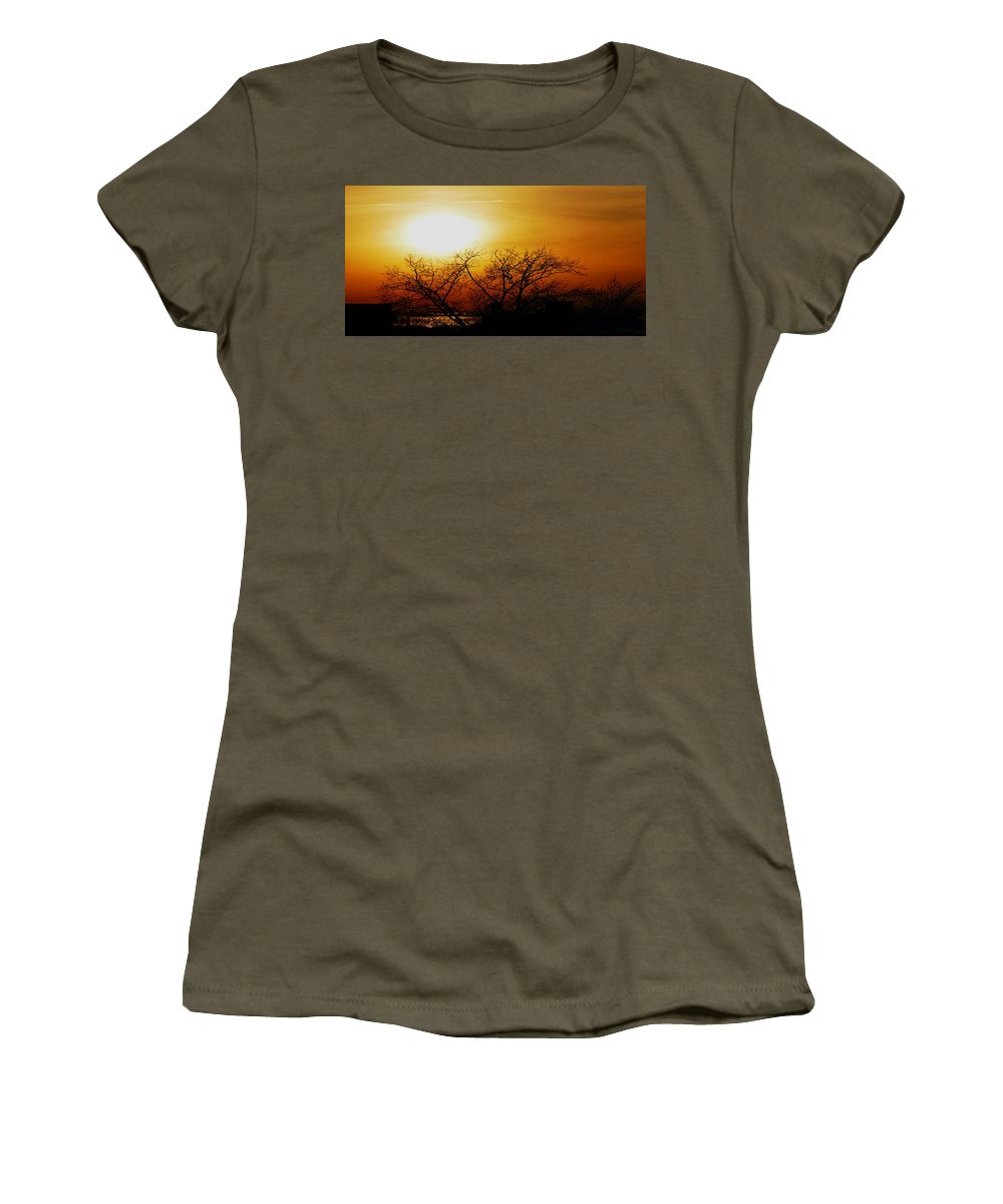 Landscape Women's T-Shirt (Athletic Fit) featuring the photograph Branches by Kendall Eutemey