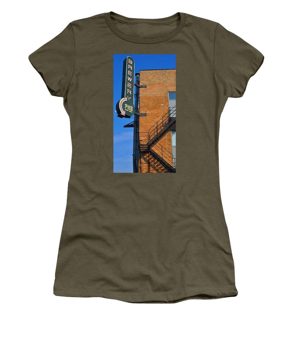 Chicago Women's T-Shirt featuring the photograph Brewery Pub by Tim Nyberg