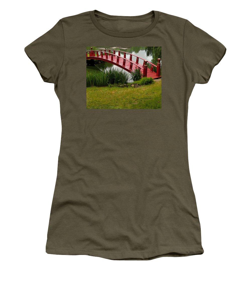 Bridge Women's T-Shirt featuring the photograph Bridge To Nowhere by Mindy Newman