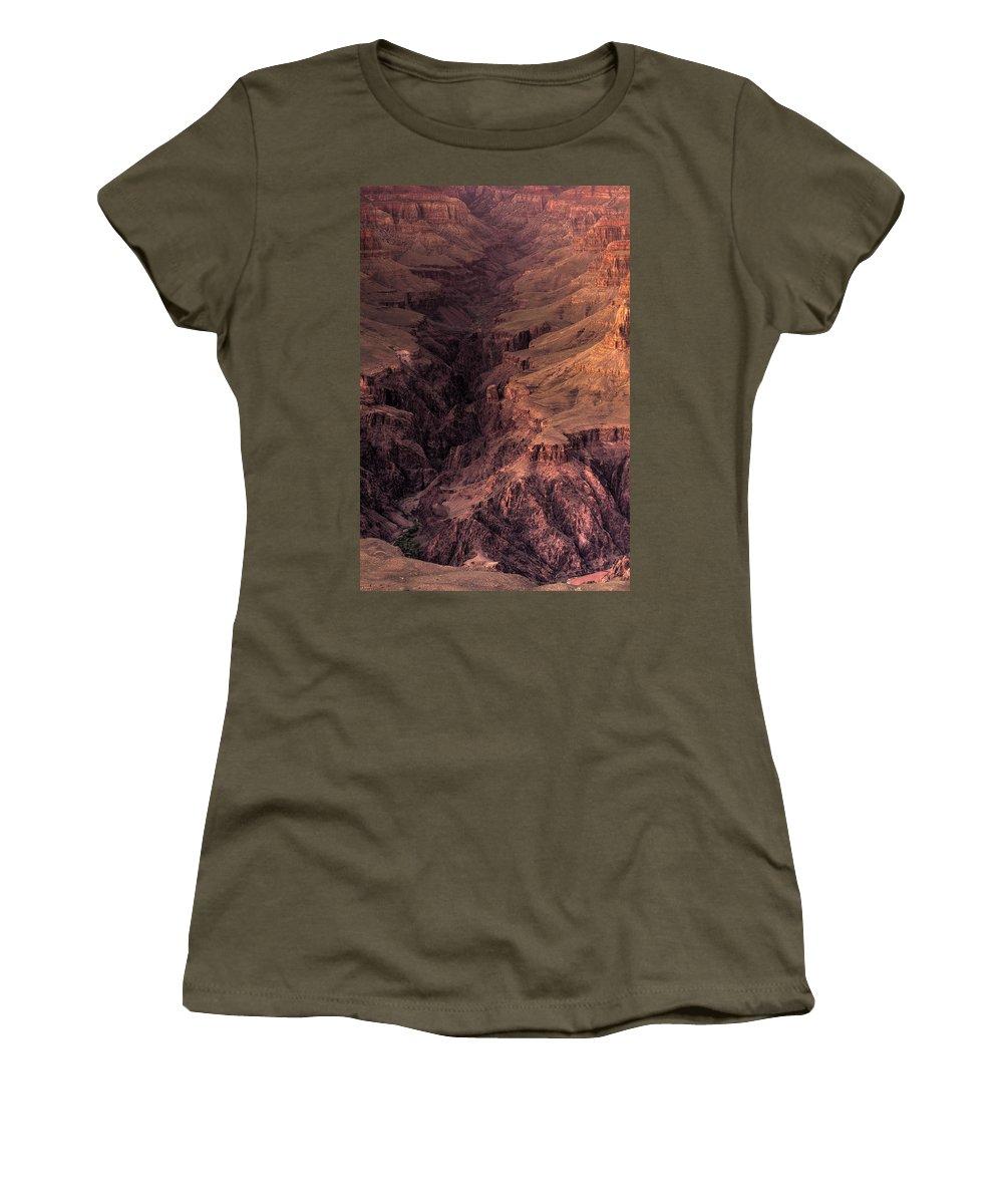 Arizona Women's T-Shirt featuring the photograph Bright Angel Canyon Grand Canyon National Park by Steve Gadomski