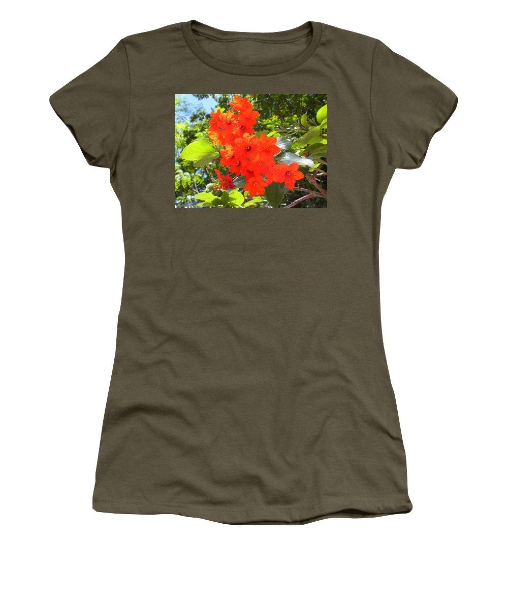 Flowers Women's T-Shirt (Athletic Fit) featuring the photograph Brilliant Blossoms by Maria Bonnier-Perez
