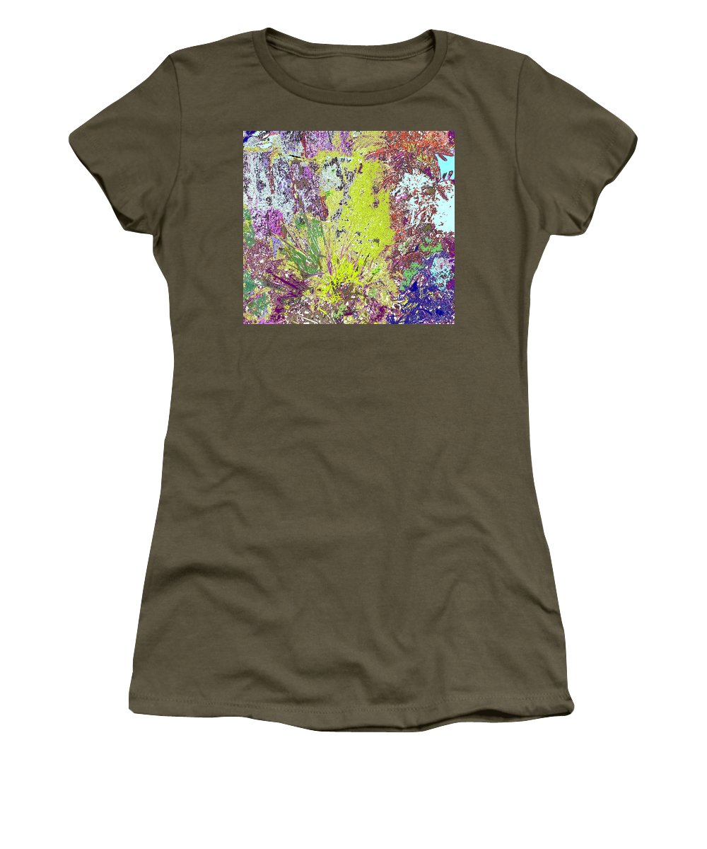 Abstract Women's T-Shirt (Athletic Fit) featuring the photograph Brimstone Fantasy by Ian MacDonald