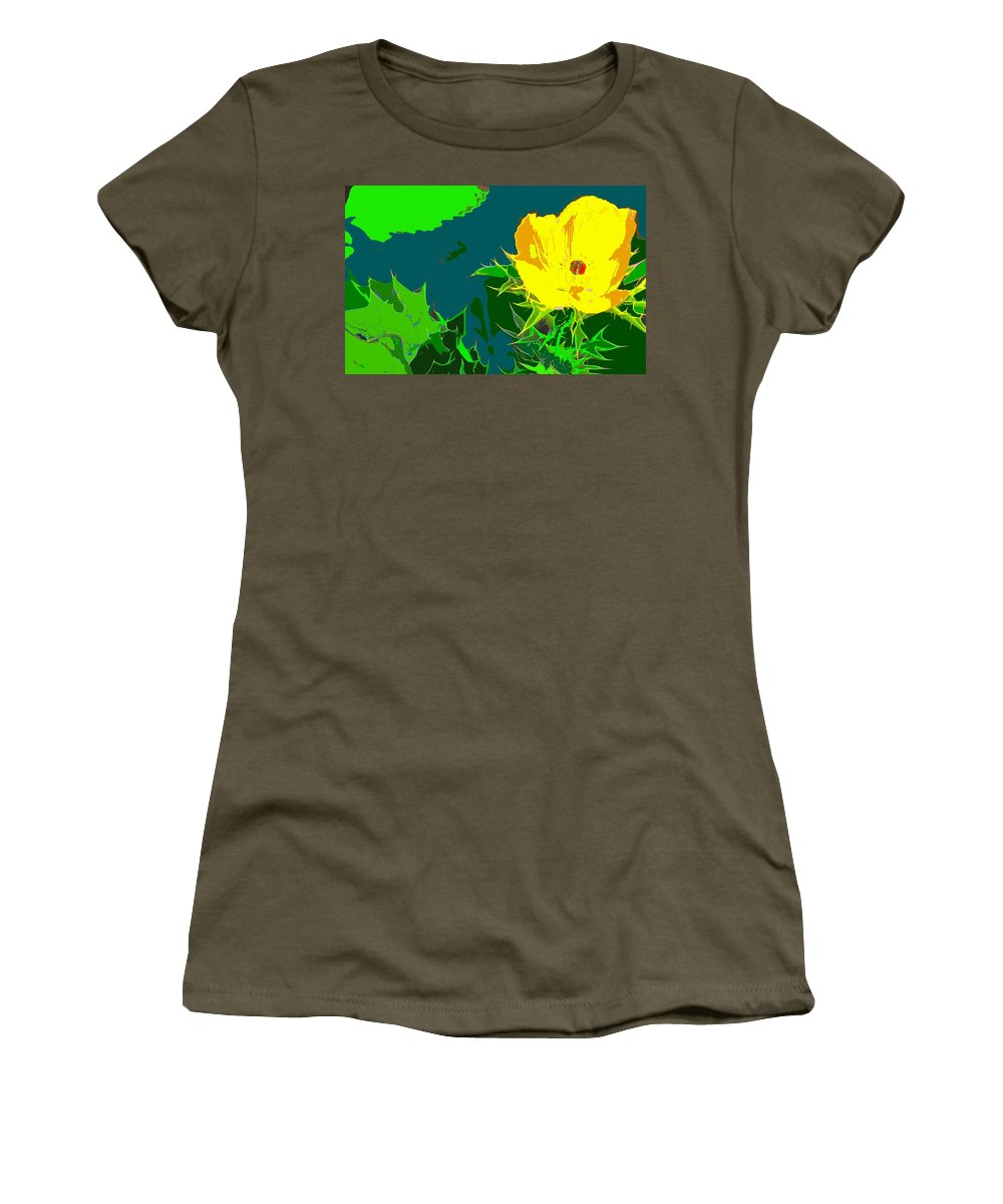 Women's T-Shirt (Athletic Fit) featuring the photograph Brimstone Yellow by Ian MacDonald