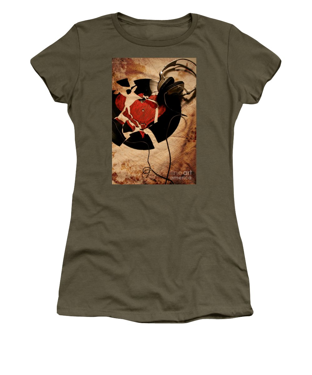 Music Women's T-Shirt (Athletic Fit) featuring the photograph Broken Promises by Jason Williams