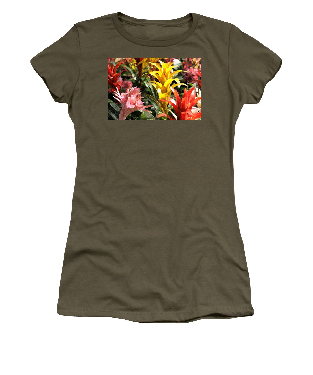 Impressionism Women's T-Shirt featuring the photograph Bromeliads by Steven Sparks