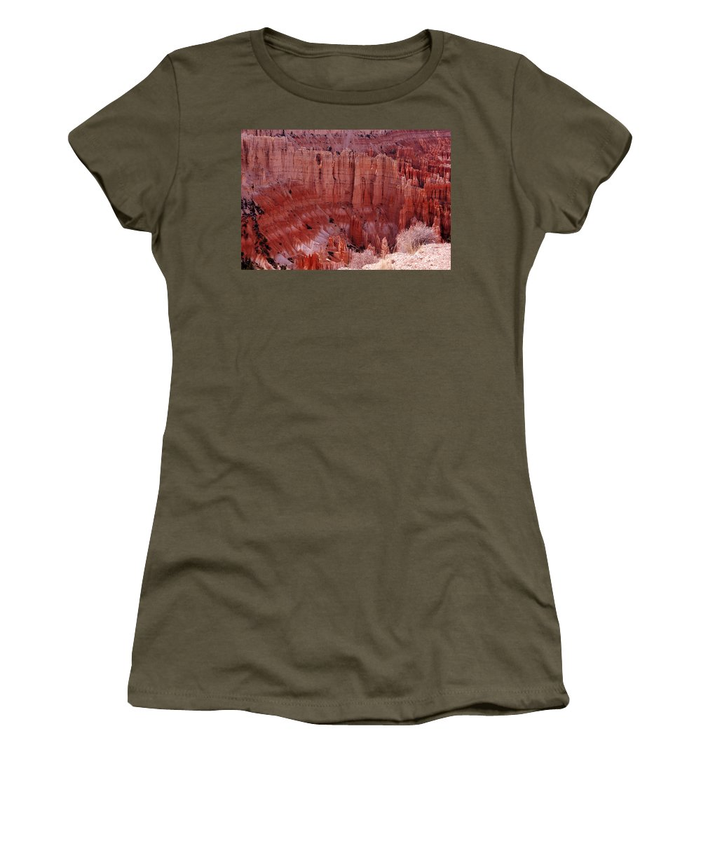Landmark Women's T-Shirt featuring the photograph Bryce Canyon Hoodoos by Susanne Van Hulst