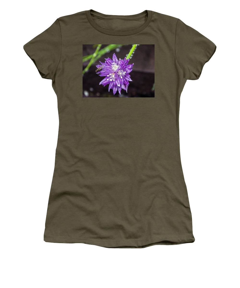 Insect Women's T-Shirt featuring the photograph Bug Chilling Chive by William Tasker