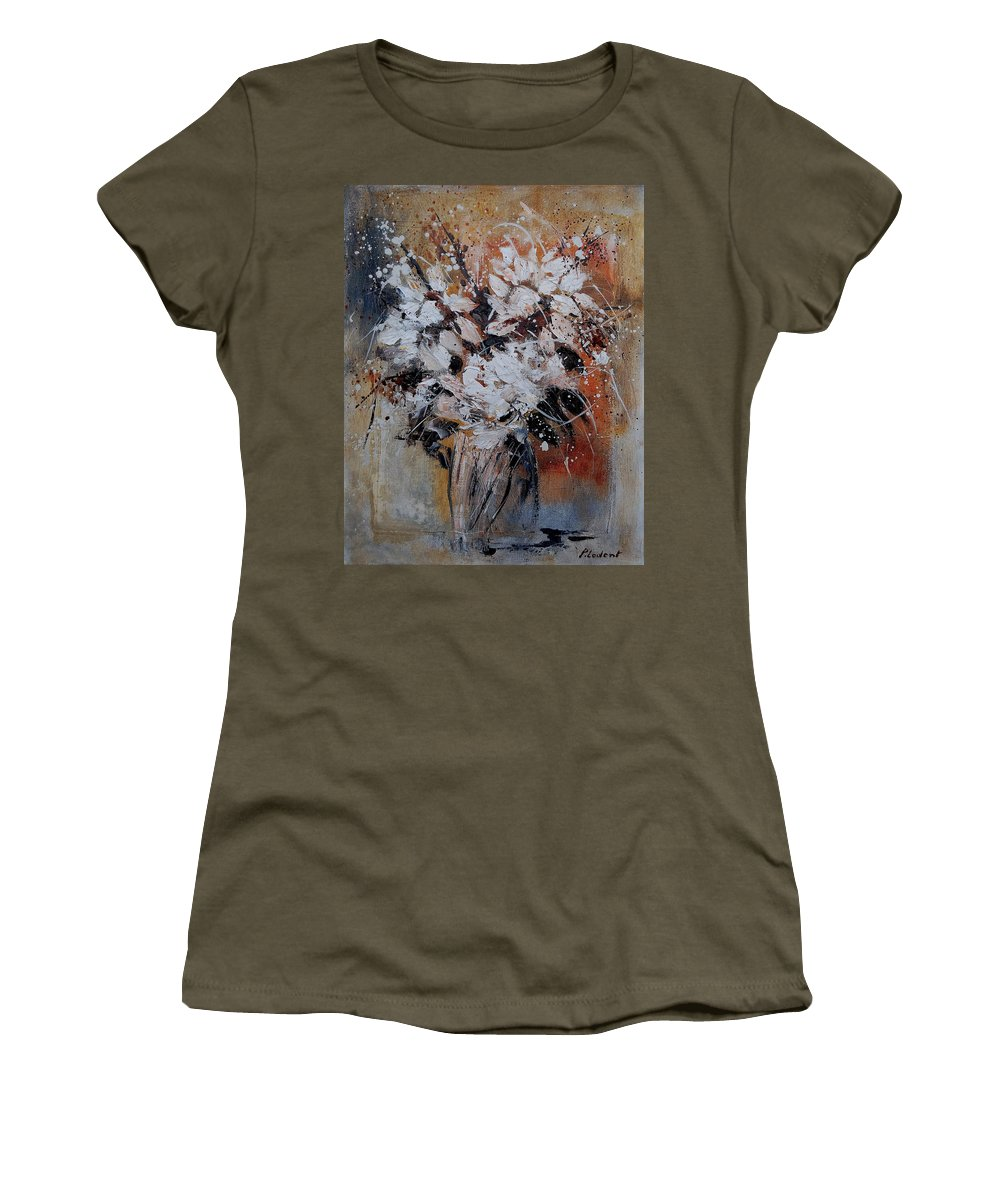 Flowers Women's T-Shirt featuring the painting Bunch 45900140 by Pol Ledent