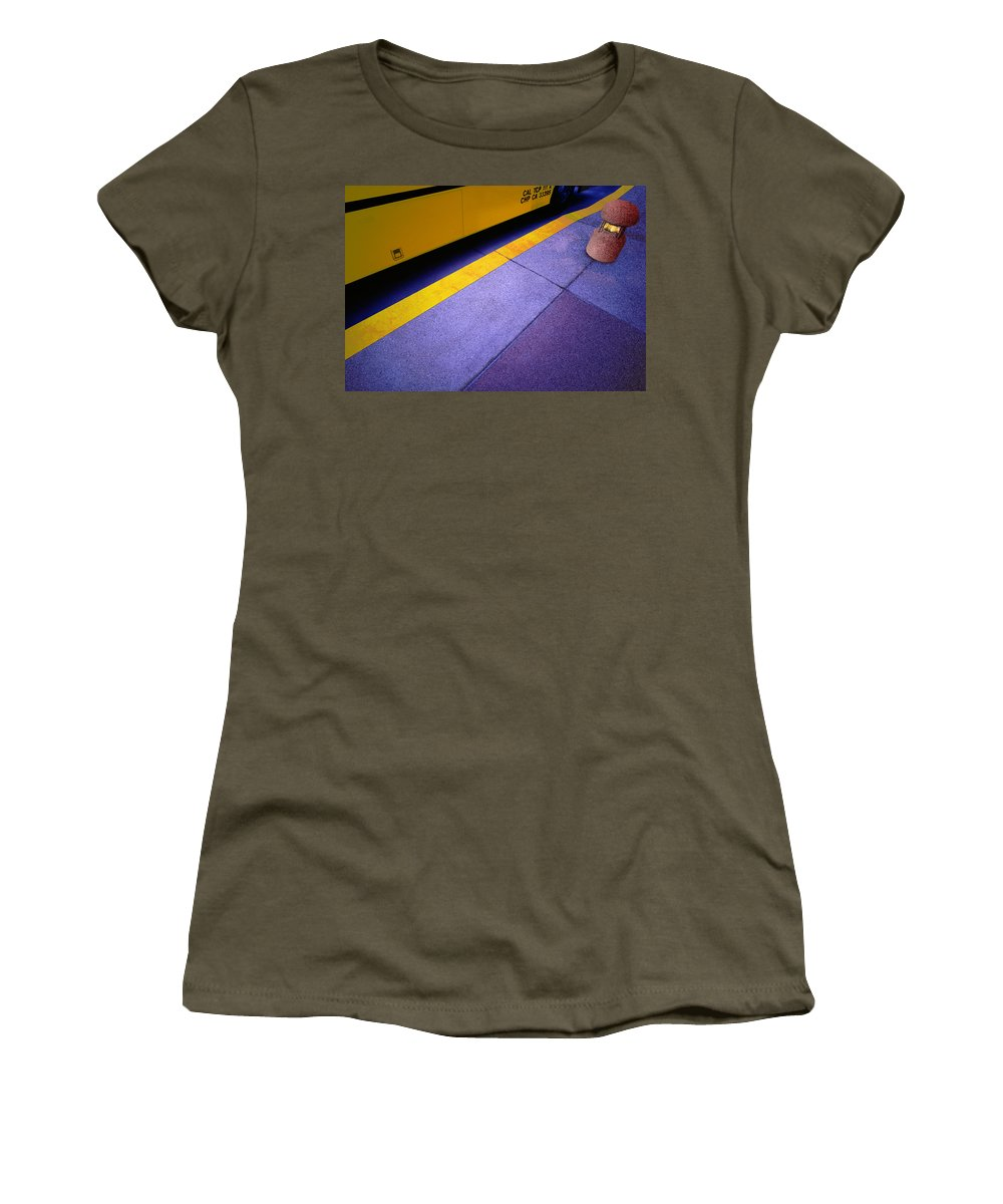 Bus Stop Women's T-Shirt featuring the photograph Bus Stop by Paul Wear