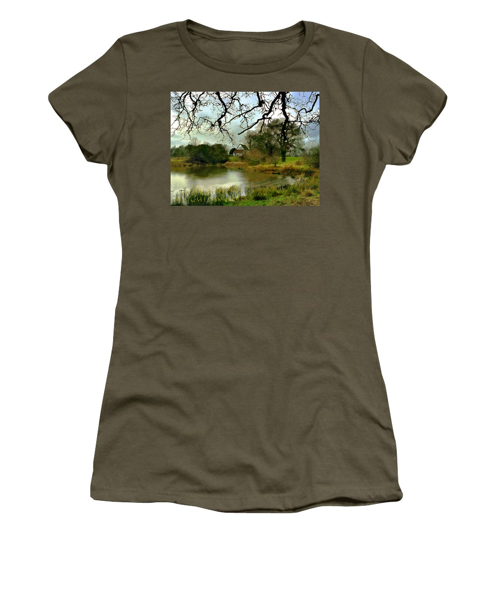 England Women's T-Shirt (Athletic Fit) featuring the photograph Butlers Retreat Epping Forest Uk by Kurt Van Wagner
